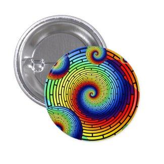 Rainbow Spiralism 1 Inch Round Button