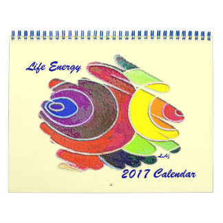 Rainbow Spirals 2017 Calendar Standard Two Page