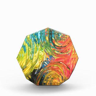 Rainbow Spirals Abstract Painting Acrylic Award