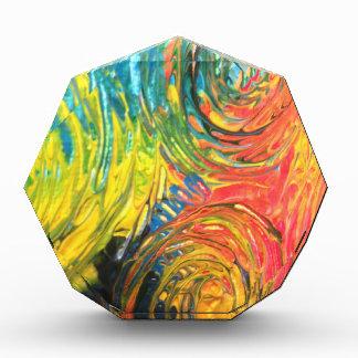 Rainbow Spirals Abstract Painting Award