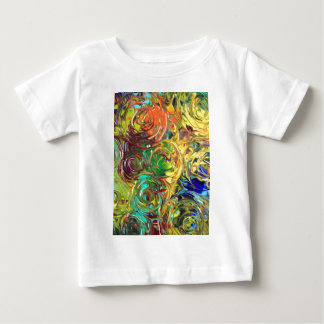 Rainbow Spirals Abstract Painting Baby T-Shirt