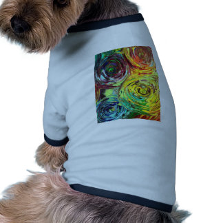 Rainbow Spirals Abstract Painting Dog Clothing