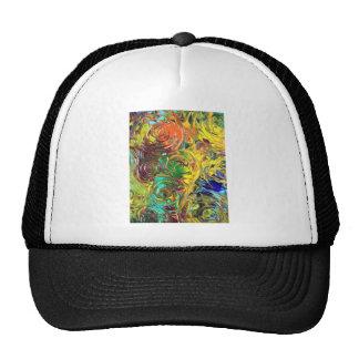 Rainbow Spirals Abstract Painting Trucker Hat