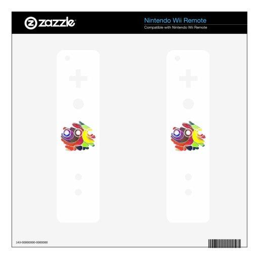 Rainbow  Spirals Nintendo Wii Remote Skin