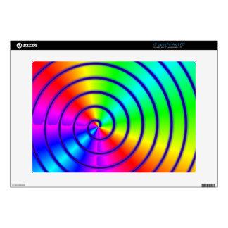 Rainbow spirals skin for laptop