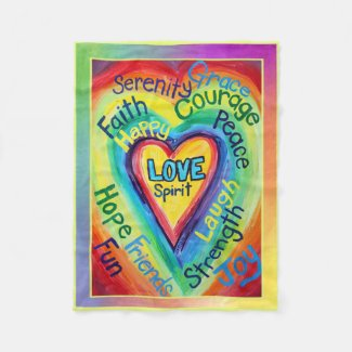 Rainbow Spirit Words Blanket