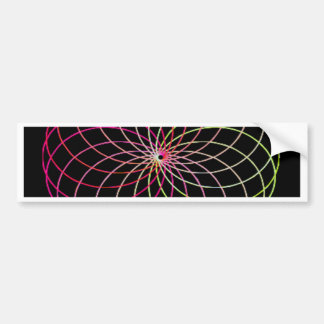 Rainbow Spirograph Bumper Stickers