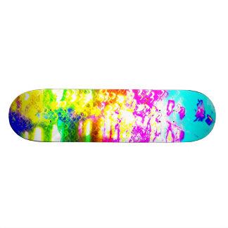 Rainbow Splash Abstract Modern Art Photo Wall Deco Skateboard Deck