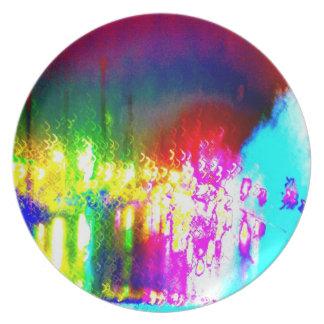 Rainbow Splash Driving Art Photo Plastic Picnic Party Plates