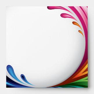 Rainbow Splash - Invite Envelope