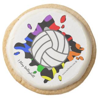 Rainbow Splash Volleyball Cookies