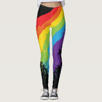 Rainbow Splat LGBT Pride Leggings