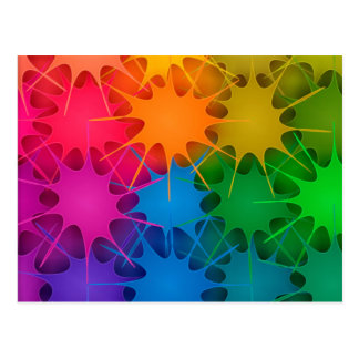 Rainbow Splat! Postcard