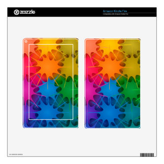 Rainbow Splat! Skin For Kindle Fire