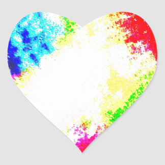 Rainbow Splats Heart Sticker
