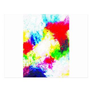 Rainbow Splats Postcard