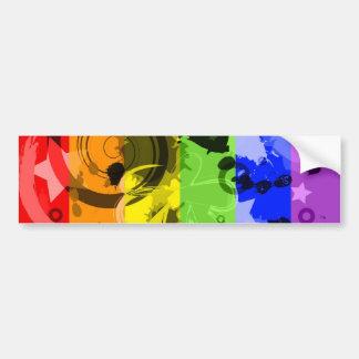 Rainbow Splatter Bumper Sticker Car Bumper Sticker
