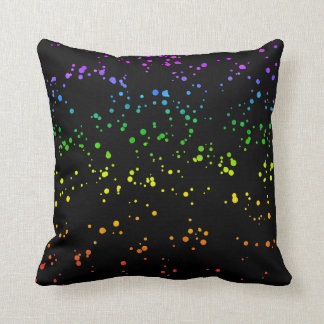 Rainbow Splatter Confetti LGBT Pride Throw Pillow