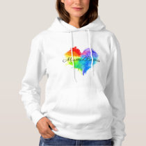 Rainbow Splatter Heart Hoodie