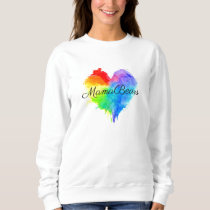 Rainbow Splatter Heart Sweatshirt