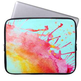 Rainbow Splatter Laptop Sleeve. Laptop Sleeve