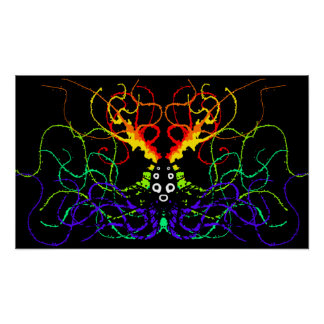 Rainbow Splatter Print