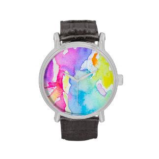 Rainbow Splatter Watch By Megaflora