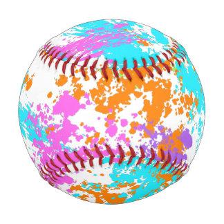Rainbow Splattered Baseball