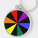 Rainbow Spokes Keychain