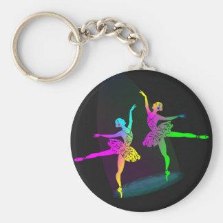 Rainbow Spotlighted  Ballet Dancers Keychain