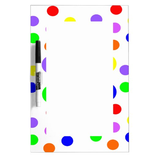 Rainbow Spots Memo Board Dry-Erase Whiteboards
