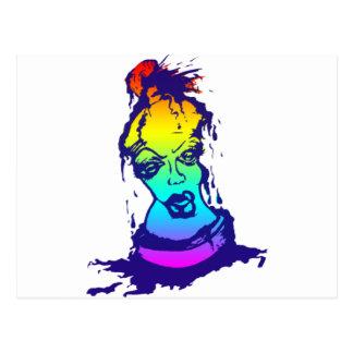 Rainbow Spray Paint Character Postcards