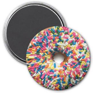 Rainbow Sprinkle Donut 3-inch round magnet