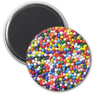 Rainbow sprinkles 2 inch round magnet