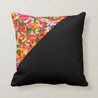 Rainbow Sprinkles Candy Pattern Pillow