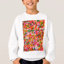 Rainbow Sprinkles Candy Pattern Sweatshirt
