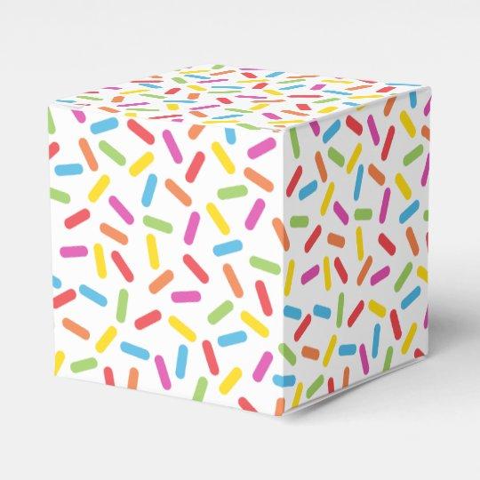 Rainbow Sprinkles Favor Box