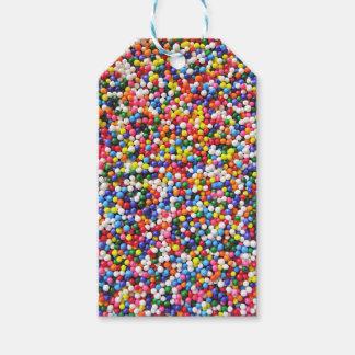 Rainbow sprinkles gift tags