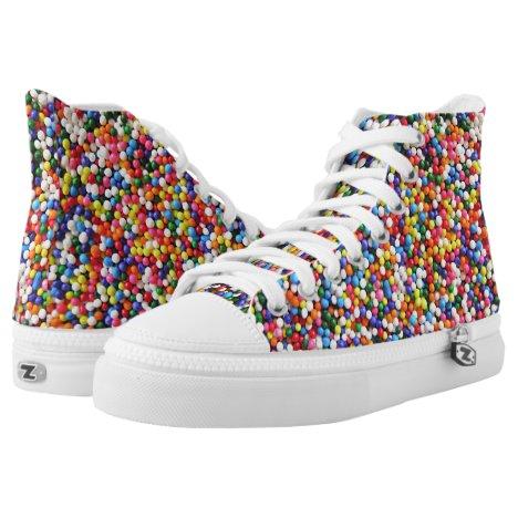 Rainbow sprinkles High-Top sneakers