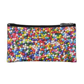 Rainbow sprinkles makeup bag