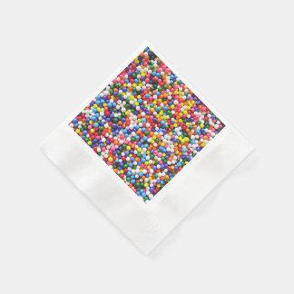 Rainbow sprinkles paper napkin