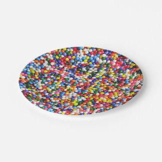Rainbow sprinkles paper plate