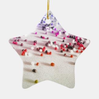 Rainbow Sprinkles Photography Ceramic Ornament