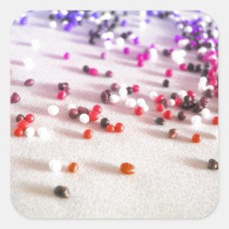 Rainbow Sprinkles Photography Square Sticker