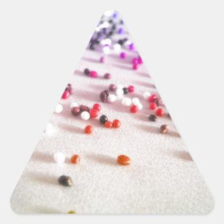 Rainbow Sprinkles Photography Triangle Sticker