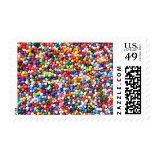 Rainbow sprinkles postage stamp