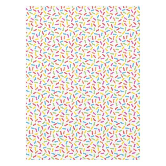 Rainbow Sprinkles Tablecloth Zazzle Com