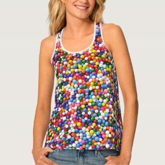 Rainbow sprinkles tank top