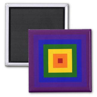Rainbow Square 2 Inch Square Magnet