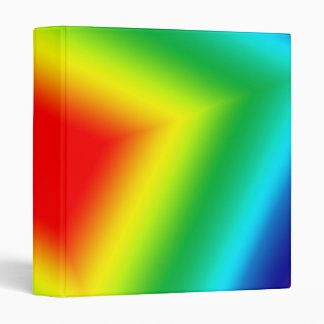 rainbow square 3 ring binder
